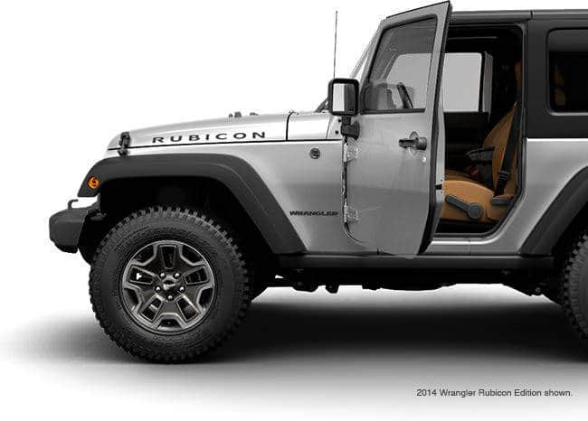 2015 Jeep Wrangler Unlimited Side Doors On