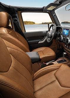 2015 Jeep Wrangler Unlimited Interior Dark Saddle Seats