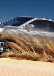 Capacidad en terrenos arenosos del Jeep Grand Cherokee 2016