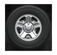 """Jeep Wrangler 2016: rueda de 16"""" y rayos con ranuras"""