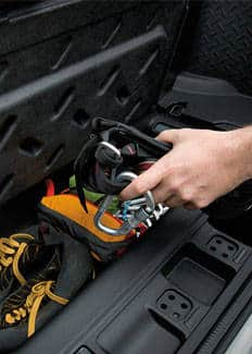 Jeep Wrangler 2016: compartimento de almacenamiento