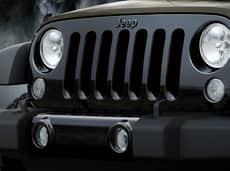 2015 Jeep Willys Wheeler Black Front Grille
