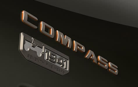 Jeep Compass 75th Anniversary Edition Badge