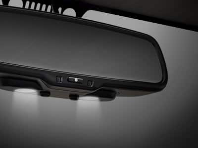 Rearview Mirror with LED Lamps