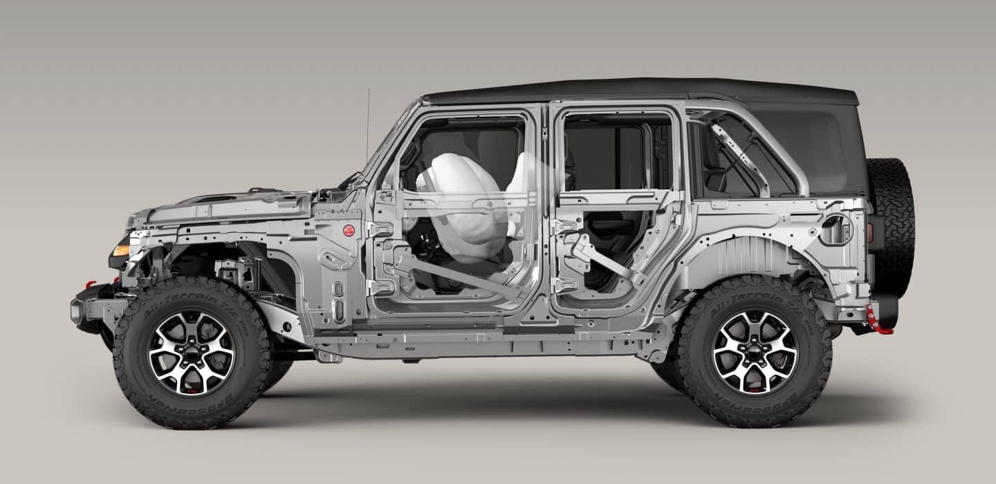 From An Advanced Front And Side Airbag System4, To High Strength Steel  Beams That Improve Side Impact Performance And Vehicle Stiffness, Wrangler  Has Your ...