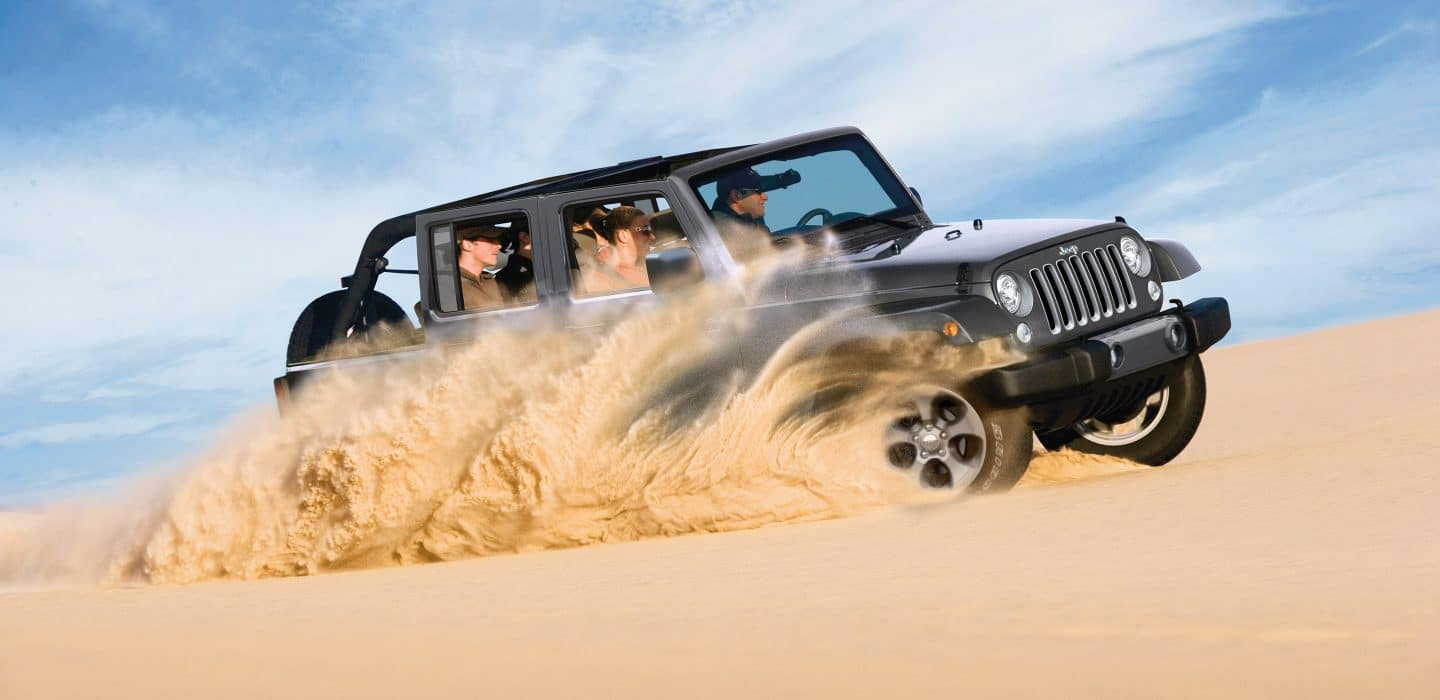 2018 Jeep Wrangler Unlimited JK Driving in Sand
