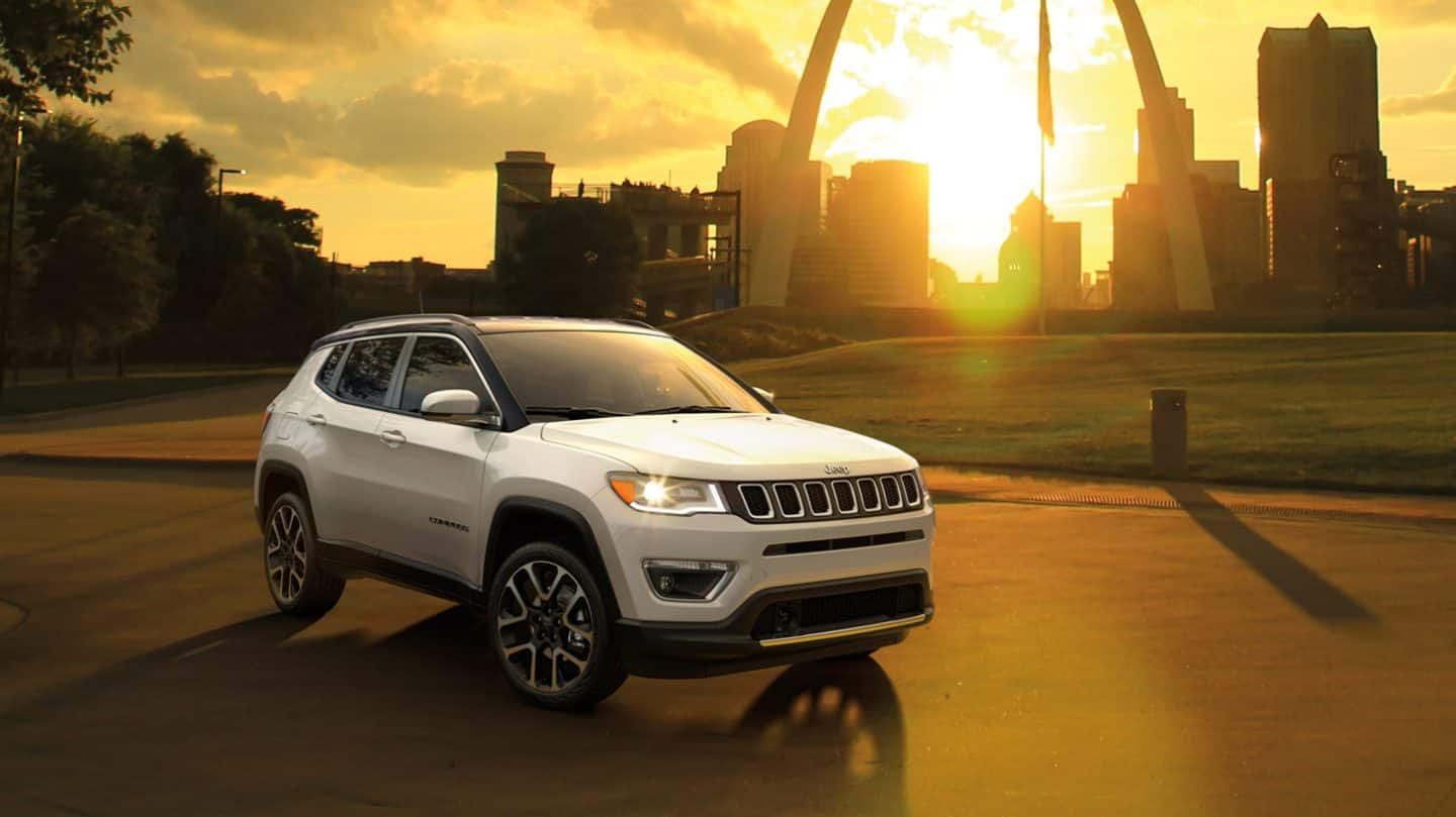 2020 Jeep Compass Front View White Exterior