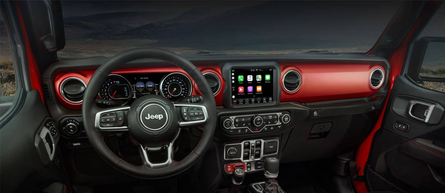 Interior dashboard of Jeep Gladiator