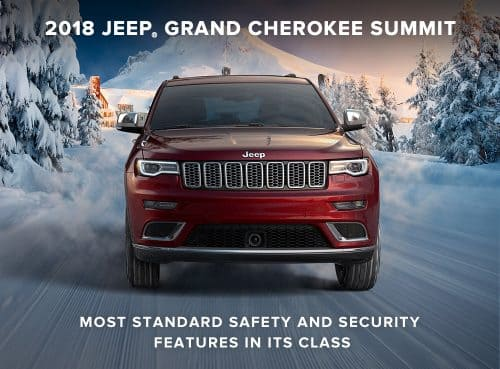 2018 Jeep Grand Cherokee Summit Most Standard Safety and Security Features in its Class