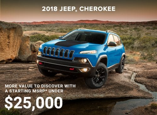2018 Jeep Cherokee MSRP