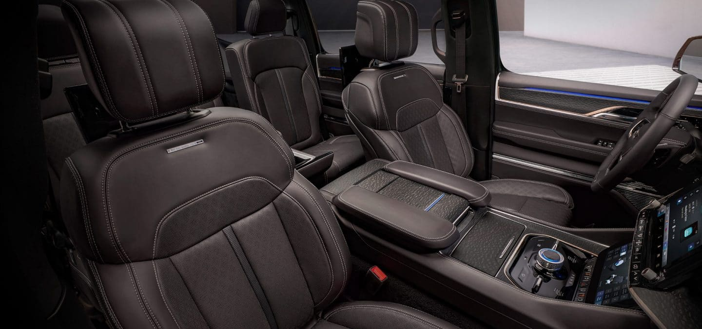 Interior seating of the Jeep Grand Cherokee
